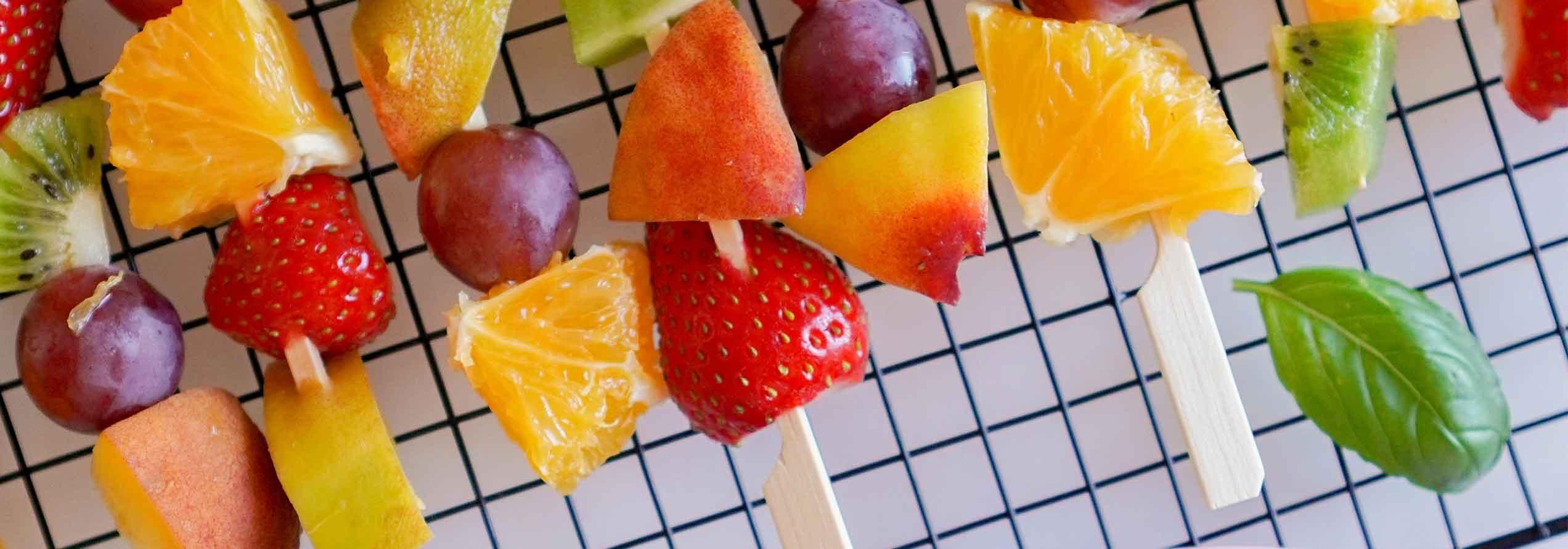 Broquetes de fruita