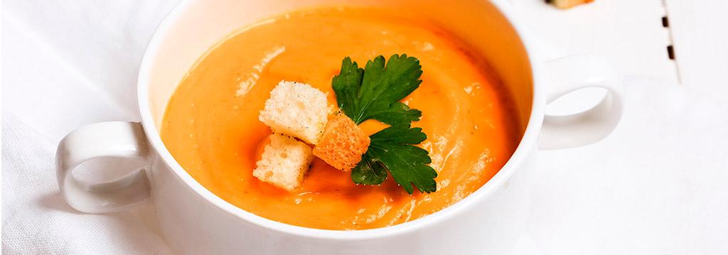 Plat de crema de pastanaga